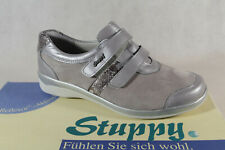 Stuppy Ladies Slipper Shoes, Sneakers Shoes Leather Light Grey Wide G New
