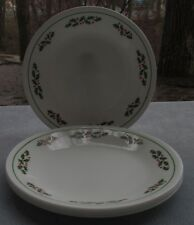 FOUR Vintage Corelle Winter Holly Bread Plates