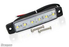 12v White Super Slim Flush LED Marker Light Sidebar Rollbar Running Board Van
