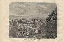 Stampa antica BURSA Moschea di Murad Turchia Turkey 1872 Old Antique print