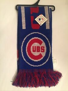 Chicago Cubs Knit Scarf by Forever Collectibles New w/ Tag MLB Baseball