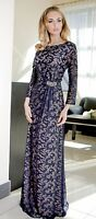 Formal Ladies Wedding Elegant Party Prom Evening Long Maxi Dress UK Size 14