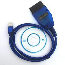VAGCOM USB KKL Cable For AUDI Volkswagen OBD2 OBDII Car Diagnostic Scanner sw