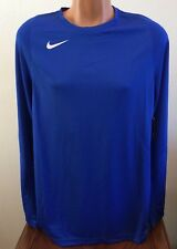 Nike Disruption Shooter Basketball Long Sleeve Shirt Blue Mens L Large 802309
