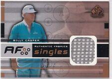 2003 UD SP GAME USED GOLF BILLY CASPER FABRICS SINGLES EVENT SHIRT 2CL
