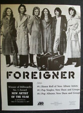Foreigner 1979 Ad- New Artist Of The Year Award