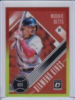 Mookie Betts 2018 Donruss Optic Diamond Kings Red & Yellow Prizm Refractor #27