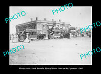 OLD POSTCARD SIZE PHOTO HENLEY BEACH SOUTH AUSTRALIA TRAMS ON ESPLANADE 1905