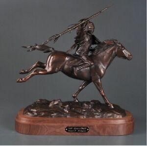 Steve Lillegard The Challenge American Indian on Horse Western Bronze Sculpture