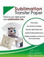 100 Sheets A4 Sublimation Heat Transfer Paper for Inkjet Printer Mug T-shirt