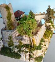 Miniature castle, ready made, no assembly required, scale 1:160