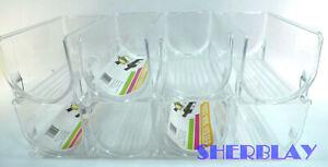 8X InterDesign Fridge Binz Wine Holder Rack Organizer Clear Plastic Stackable