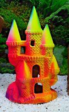 Colourful Fluoro Ceramic Princess Castle Aquarium Fish Tank Ornament 323