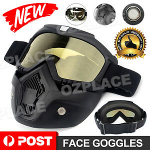 Detachable Face Airsoft Mask Adjustable Paintball Protective Glasses Outdoor