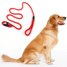 Dog Leash Whisperer Cesar Millan Style Slip Training Nylon Lead Collar Rope red