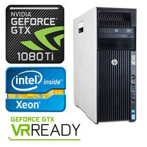 HP Z620 4K VR Gaming Computer 3.6GHz 10 Cores GTX 1080Ti 64GB RAM 1TB SSD