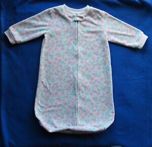 Carters Sleep Sack Safe Sleep Blanket Size Small 0-9 Months Micro-fleece