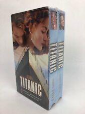 Titanic VHS 2 tape set Leonardo DiCapprio, Kate Winslet Brand New