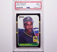 1987 DONRUSS Barry Bonds #361 RC Rookie Pittsburgh Pirates PSA 9