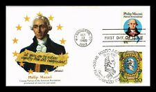 PHILIP MAZZEI PATRIOT FDC COMBO JOINT ISSUE ITALY FLEETWOOD CACHET US COVER