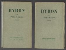 Byron par André Maurois/Les Cahiers Verts/2 volumes/EO numérotée/1930