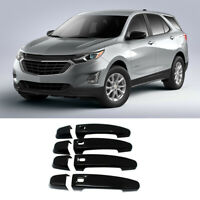 Door Handle Covers For 2018-2021 Equinox GMC Terrain W/4 Smart Holes Gloss Black