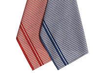 TORCHONS DE CUISINE - 50 x 70 CM - 100%COTON -  BLEU ET BLANC - LOT DE 6