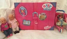 Zapf creation mini baby born suitcase dolls & clothes & accessories & Stroller