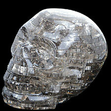 3D Light Crystal Skull Puzzle With Flashing Light 49pcs Jigsaw DIY Blocks Black