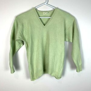 Tom Scott Knitwear Scotland Cashmere Sweater Jumper Green Size Men's Small