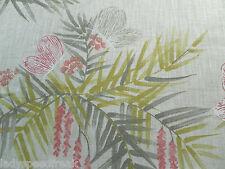 Harlequin Curtain Fabric FLORET 1.3m Peach/Linen Butterfly Floral Design 130cm