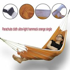 Single People Fabric Hammock Outdoor Leisure Parachute Hammock Camping Tent Us