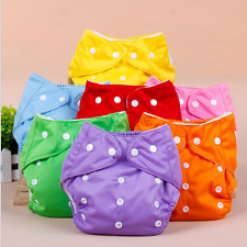 Wholesale 75 pcs lot Adjustable Reusable cloth Baby Kids Washable diaper diapers