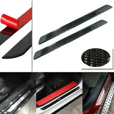 2pcs 48.5CM Carbon Fiber Car Scuff Plate Door Sill Cover Panel Step Protector