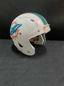 MIAMI DOLPHINS GAME USED WHITE SPEED AUTHENTIC NFL FULL SIZE HELMET 9.99!