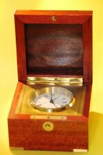 Matthew Norman clock in wooden box, like a marine chronometer