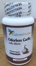 Natures Nectar Odorless Garlic with Allicin 60 Capsules Expires 8/18