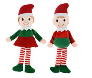 New Christmas House Plush Elf Set Boy and Girl