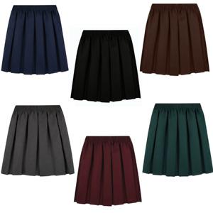 School Uniform Skirt Girls Back to School UK Box Pleated Round Elasticated Waist