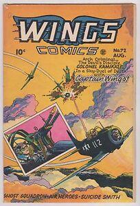 Wings Comics #72 - Aug. 1946, Fine - Very Fine Condition