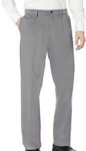 Dockers Mens Easy Khaki Pant Gray Size 36x30 Classic Fit Pleated Stretch $50 108