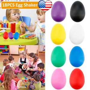 18Pcs Egg Shakers Plastic Percussion Music Instruments Maracas Toy Gift for Kids