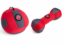 Petface Outdoor Paws Aqua Football & Dumbbell Dog Puppy Squeaky Play Toy Set