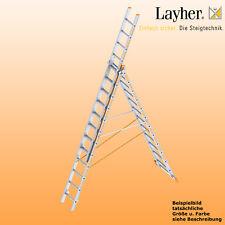Layher Alu Allzweckleiter 3-teilig Multifunktionsleiter 3x12 Spr., Typ 1040.012