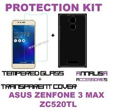 COVER + PELLICOLA VETRO TEMPERATO ASUS ZENFONE 3 MAX ZC520TL CASE TEMPERED GLASS