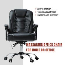 Artiss Eames Replica PU Leather Mid Back Office Chair - Black