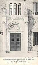 Maryknoll New York Sisters' Motherhouse Main Entrance Antique Postcard J66047