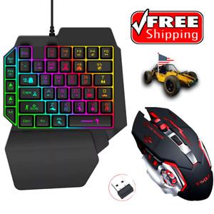 Teclado Gamer para Juegos Mini Teclado multicolor LED +Mouse LED Wireless 7color