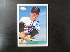 1993 Fleer Excel # 195 John Toale Autograph Signed Card B) High Desert Mavericks