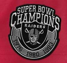 """New Oakland Raiders 'Super Bowl Champs  5 1/2  X 6 """"  Iron on Patch Free Shiping"""